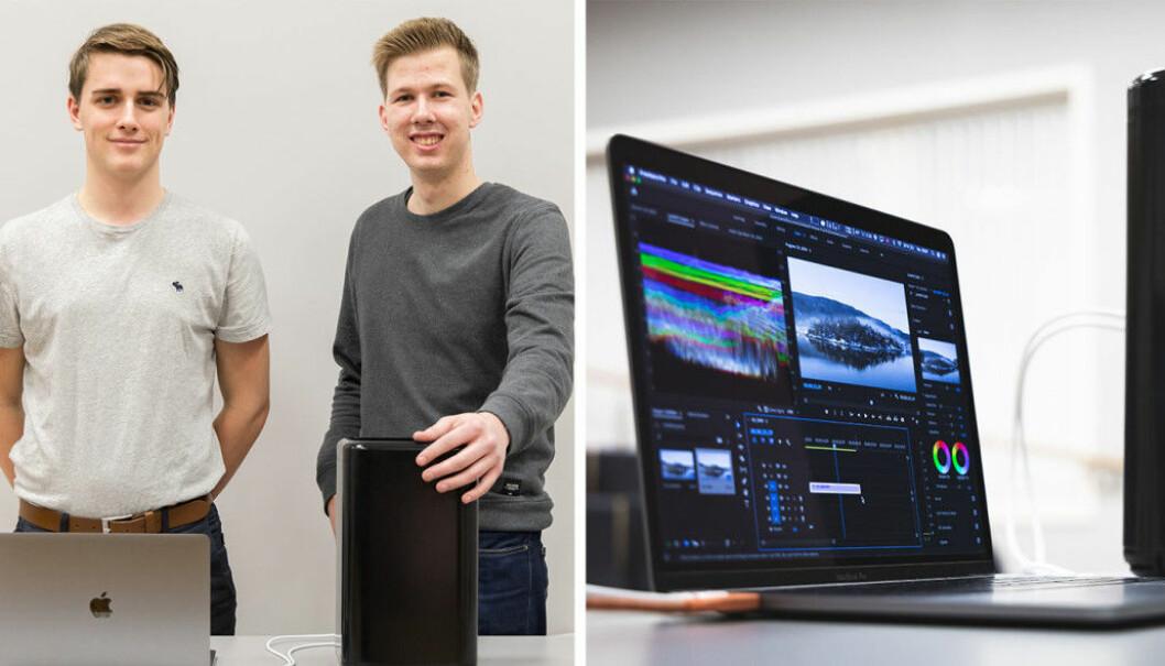 Jacob Rude Øvstaas (CMO) og Tobias Lagarhus (CEO) har laget dockingstasjonen Black Beast Pro.