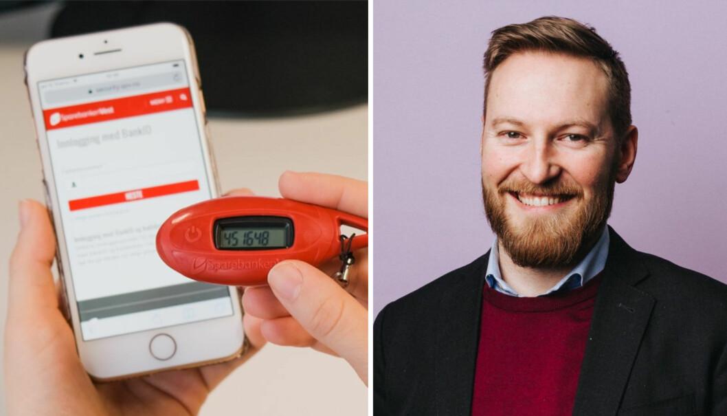 Sparebanken Vest er første bank med å implementere den nye BankID-appen til Vipps. Til høyre: Magnus Handeland, produktsjef ID i Vipps.