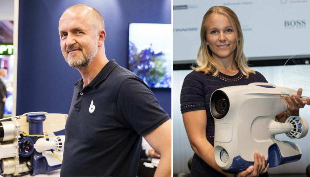 Gründerne Erik Dyrkoren og Christine Spiten er begge ute av Blueye