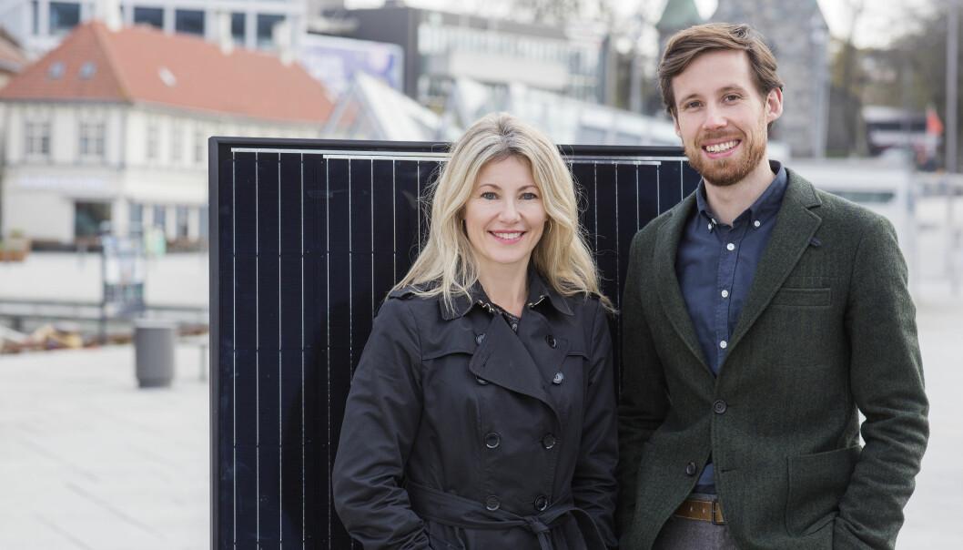 Nysnø-sjef Siri Kalgvig og investeringsdirektør Eivind Egeland Olsen.