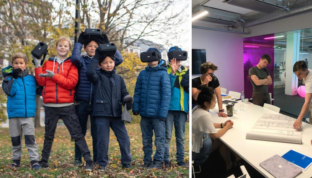"""Ludenso har lansert en """"alfa-versjon"""" av et nytt AR-program ved 10 pilotskoler. Her fra Montessoriskolen i Asker."""