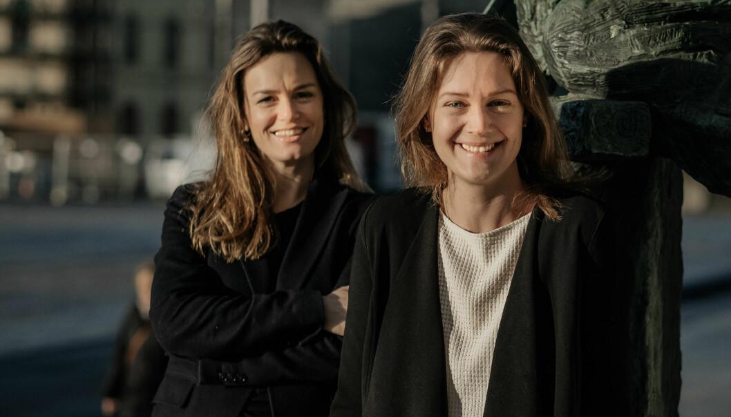 Ellen Amalie Vold (foran) tar over sjefsstolen i NVCA etter Rikke Eckhoff Høvding.