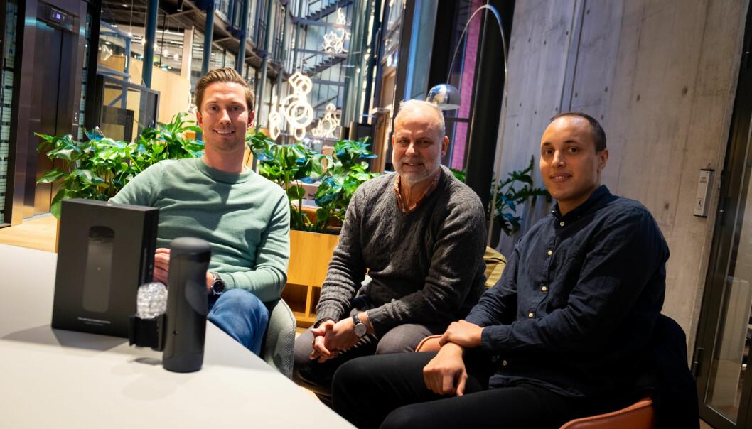 Jens Petter Wilhelmsen, Nicolay Antonio Bang og Alexander Arish Bjørkmann i Sweet Tech vil revolusjonere sextech-bransjen