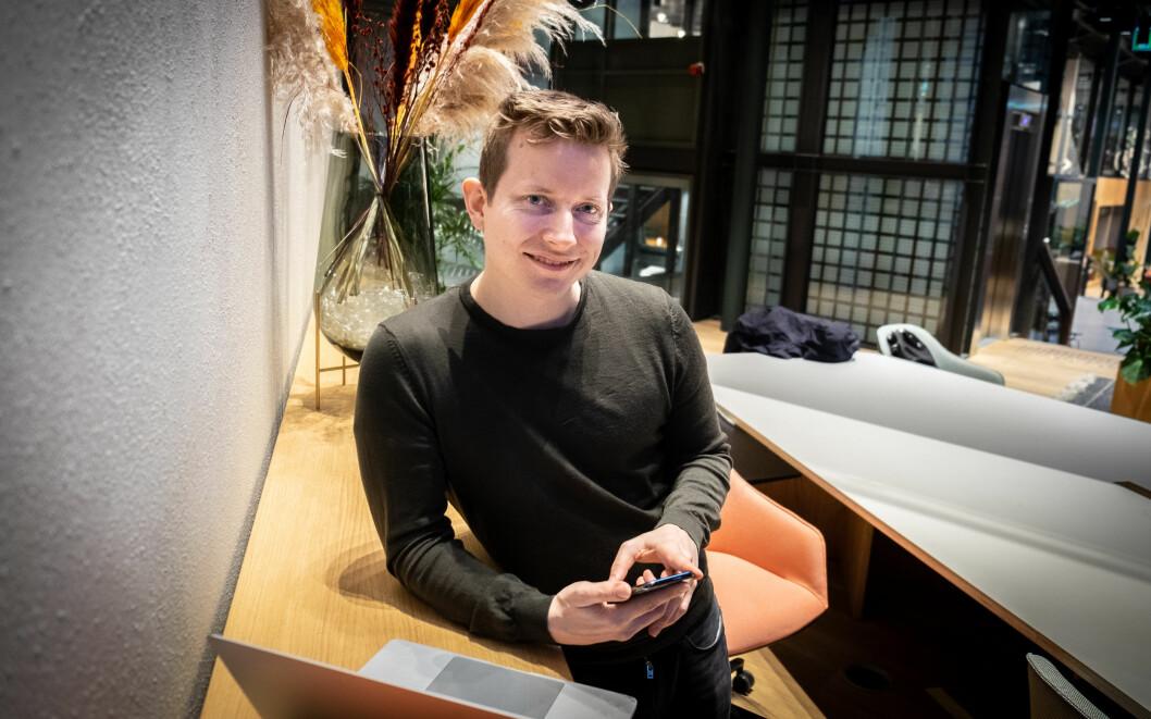 Øystein Høie, norgessjef i Dreams, lanserer en ny kredittjeneste i appen.