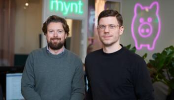 CEO Joar Hagatun og produktsjef Ole Martin Kristiansen i Kron.