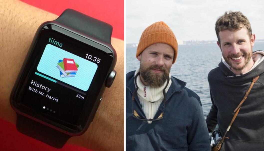 Johan Brand og Jamie Brooker, medgründere i Kahoot og nå partnere i investeringsselskapet WeAreHuman. Foto: Tiimo / Per-Ivar Nikolaisen