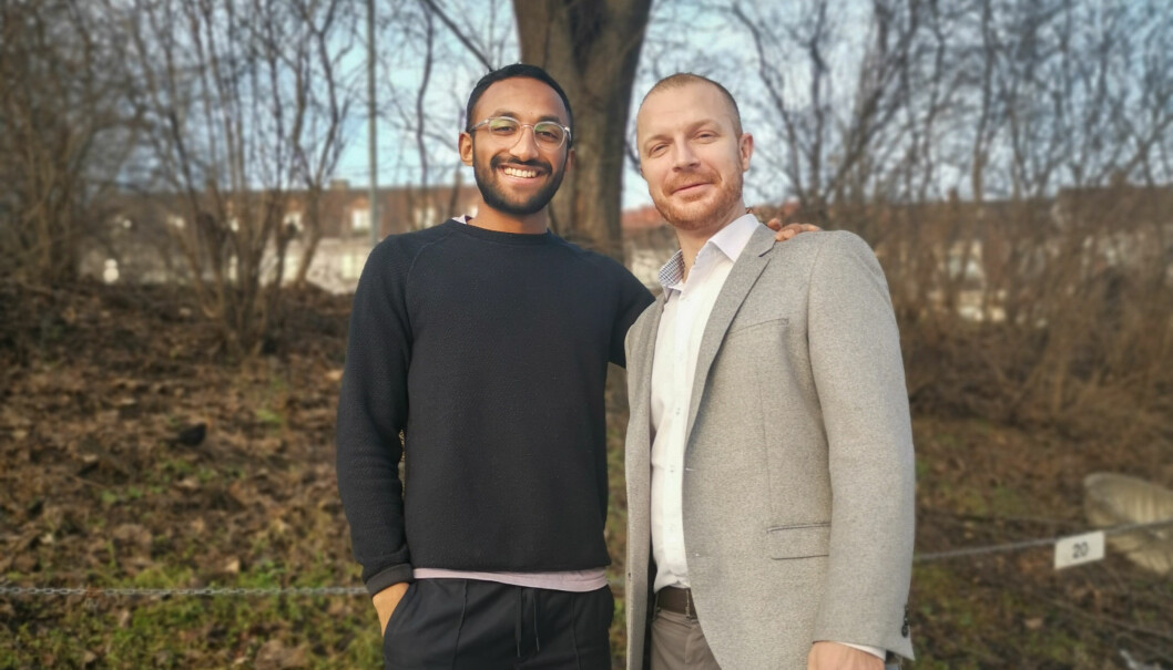 Jonathan Mylvaganam, produktsjef i Vipps og Marius Gylseth, CDO i Fair.