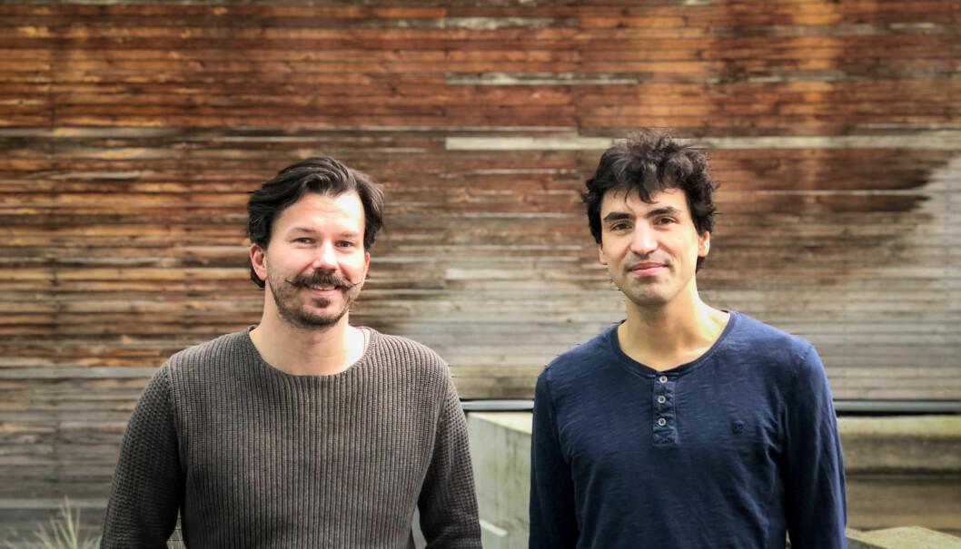 CEO og gründer av Intelecy, Bertil Helseth, sammen med nyansatte Tom Van de Wiele.