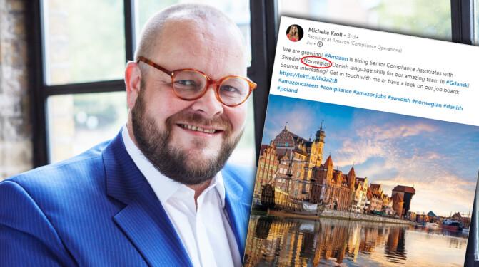 Amazon søker folk som snakker norsk