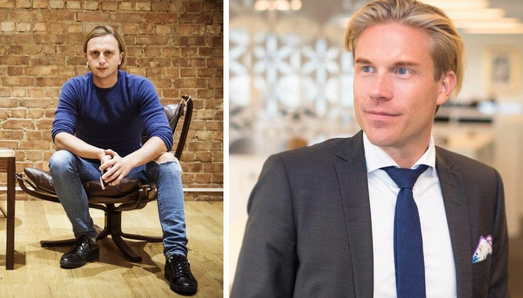 CEO i Revolut Nicolay Storonsky har hentet mer penger. Sbankens digitaldirektør Christoffer Hernæs er skeptisk.