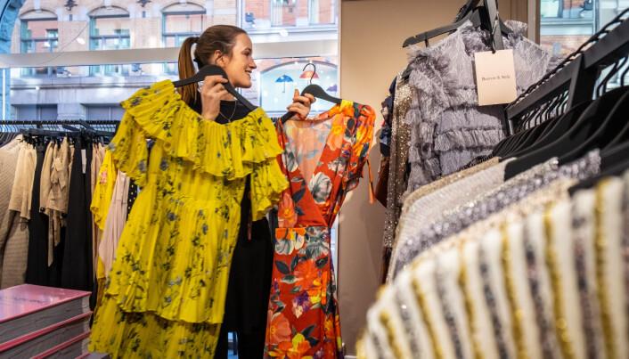 Kristina Aarvold, gründer av utleie-konseptet Borrow & Style. Her i selskapets showroom i Karl Johans gate i Oslo.