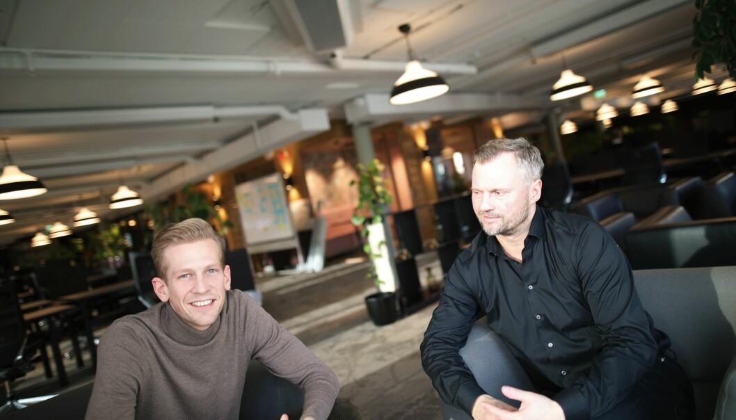 Espen Malmo og Preben Songe-Møller i Skyfall Ventures.