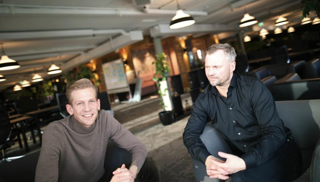 Daglig leder Espen Malmo og styreleder Preben Songe-Møller i Skyfall Ventures har lang erfaring med den norske sartup-scenen.