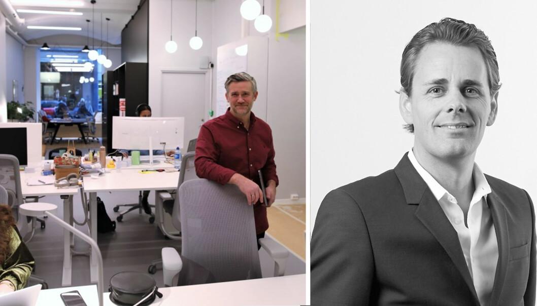 Finstart Nordic-sjef David Baum (tv) har fått med seg seriegründer Trond Eriksen på Finstart Lab.