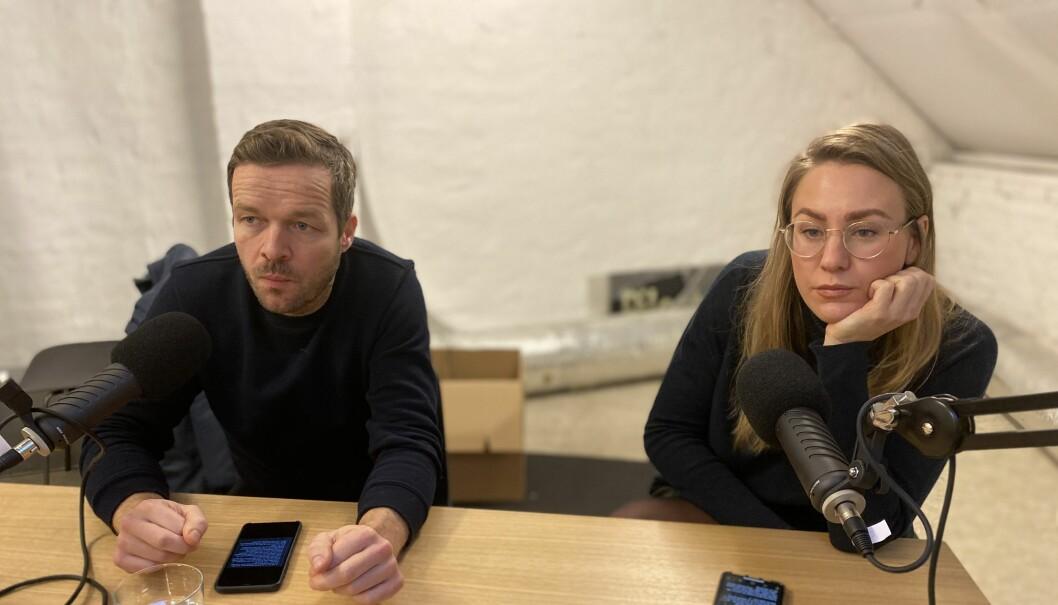 Fredrik Winther i 2M2D og Diwala-gründer Thea Sommerseth Myhren