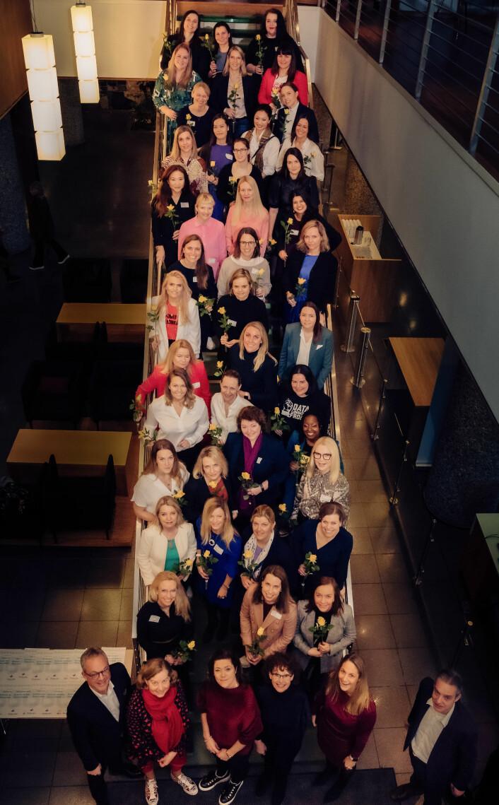 Norges 50 fremste tech-kvinner 2020, kåret av ODA-nettverk og Abelia. Foto: Abelia/Ilja Hendel