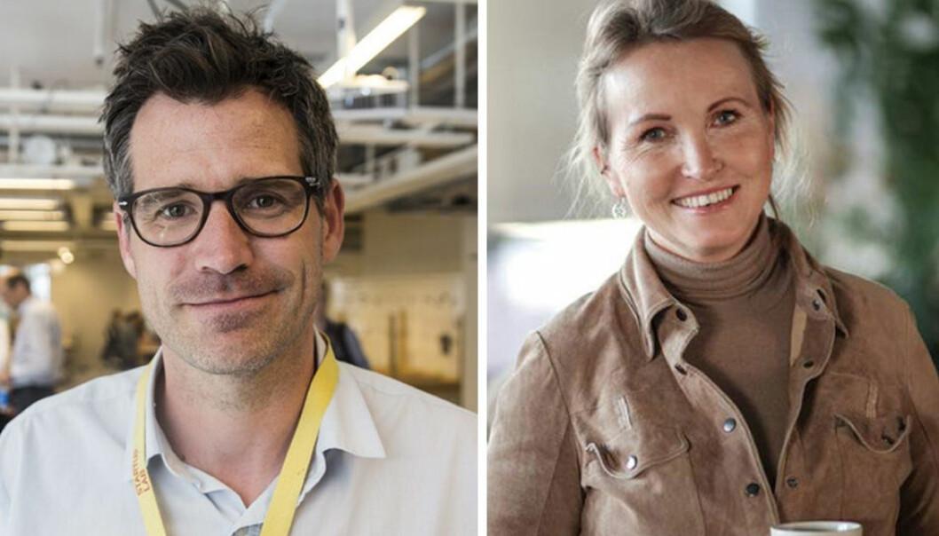 Alexander Woxen ved StartupLab og Anne Worsøe i Farmhouse Capital.