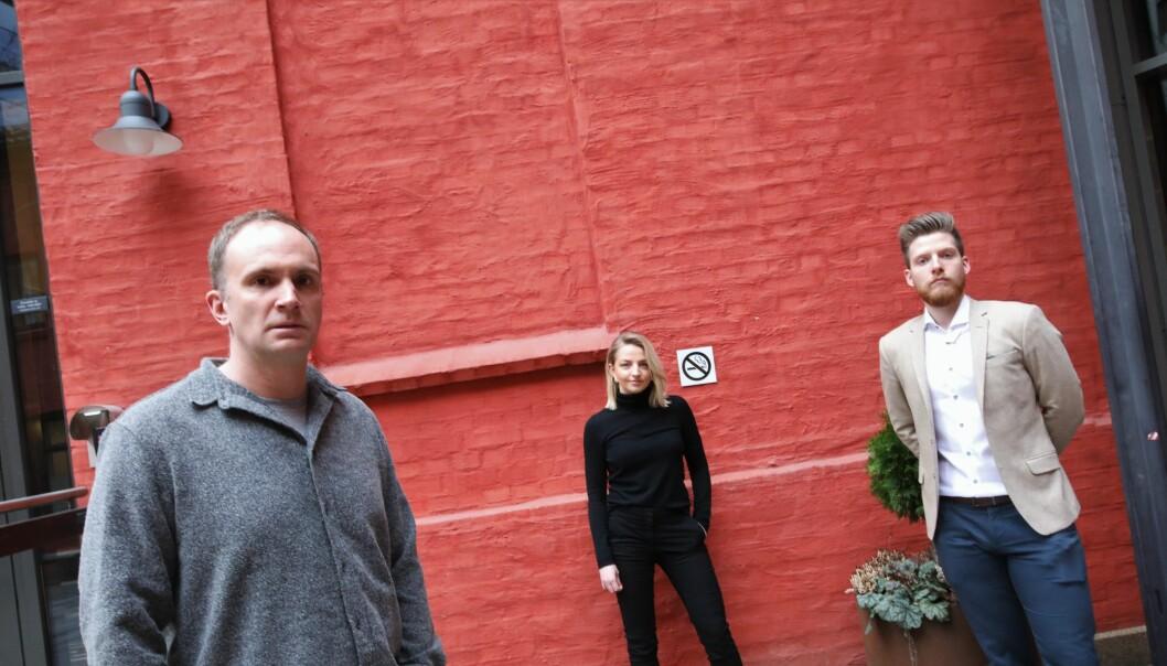 Martin Nerstad, Pernille Grut Sørli og Ronald Griffin i Storm 121