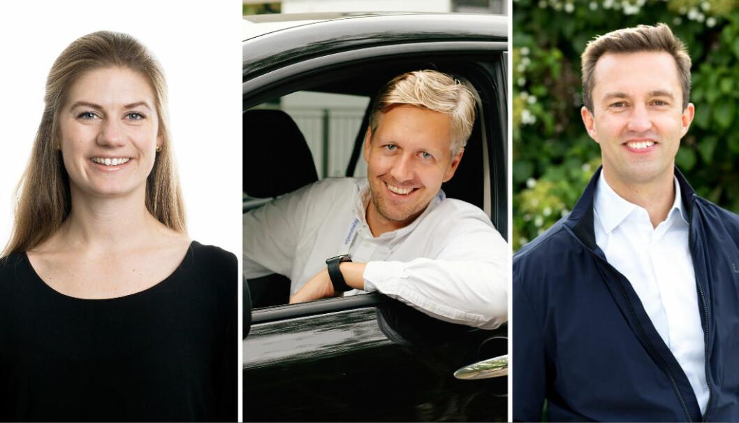 Benedicte Grytte Dahl, daglig leder i Kry Norge, Nicolai Skarsgård, daglig leder i Hjemmelegene og Karl Martin Lind, daglig leder i Eyr.