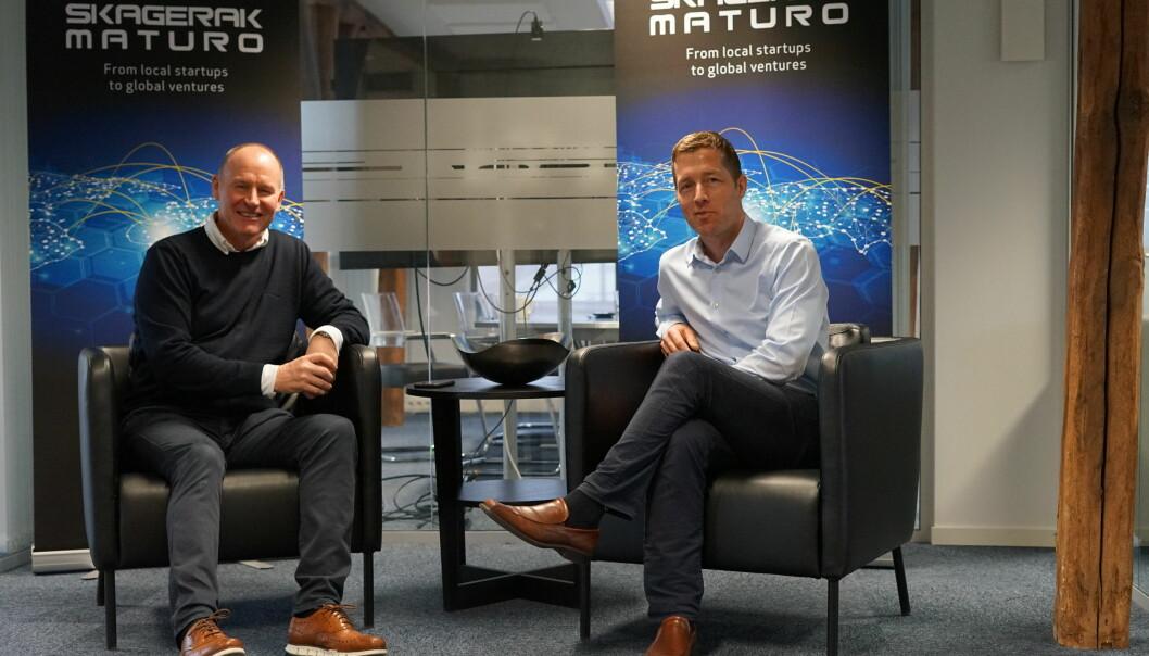 Til venstre medgründer og daglig leder i Skagerak Maturo Erik Edvardsen Tønnessen, sammen med CFO André Berg Edvardsen. Nå planlegger Skagerak Maturo sitt femte fond.