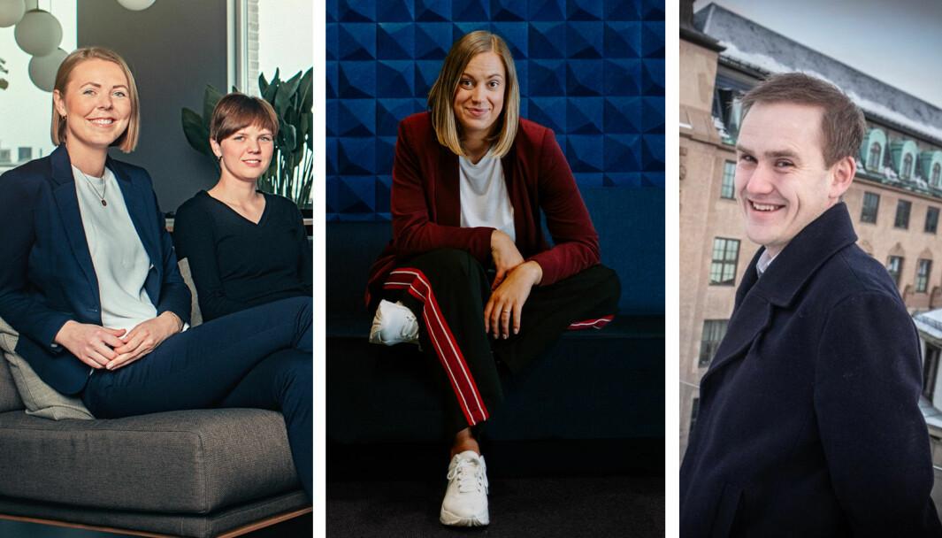 Elise Landsem i Folkeinvest, Stine Sofie Grindheim i Dealflow og Geir Atle Bore i Fundingpartner om den krevende situasjonen.