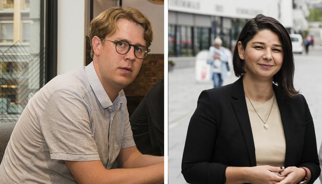 Nicolai Strøm-Olsen og Maria Amelie i Startup Migrants