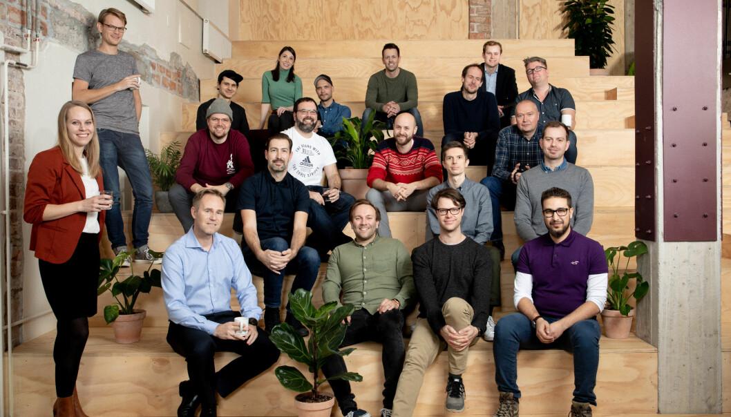 Whereby-teamet opplever enorm pågang som følge av koronakrisen. Bildet er tatt før krisen inntraff - nå jobber selskapet 100% remote.