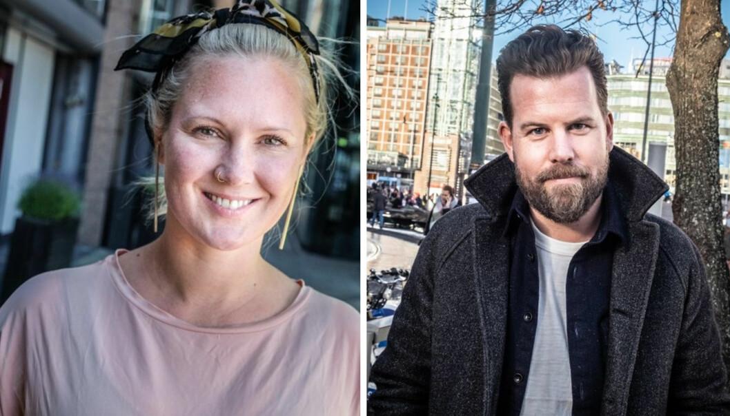 Kimberly Larsen og Johan Høgåsen Hallesby om ny krisepakke for gründere.