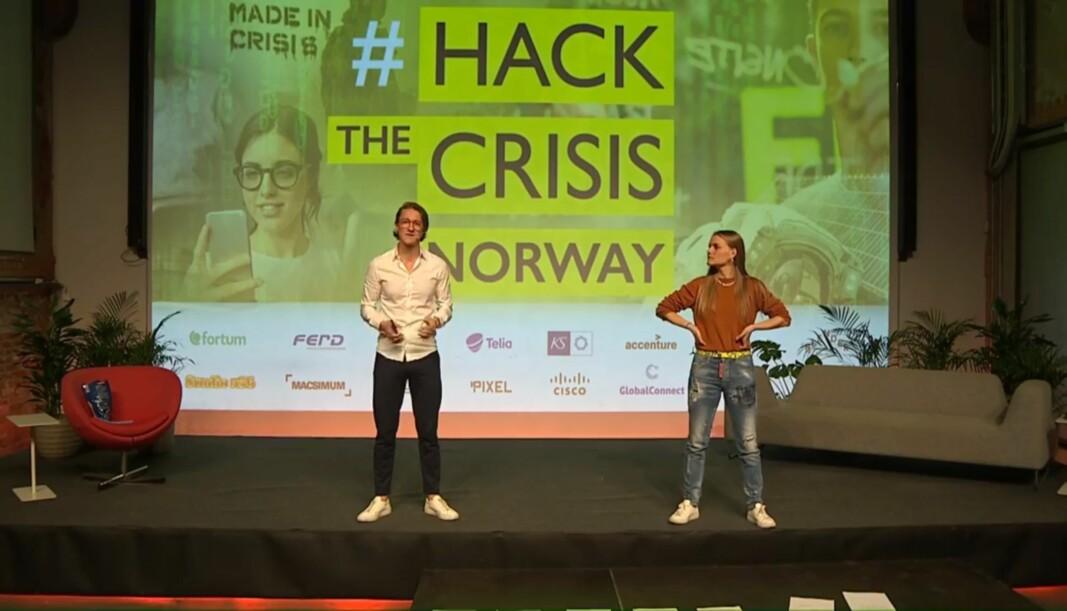 Matt Smith og Yrja Oftedahl stiller igjen som programledere for hackathon-live-sendinger. Denne gangen er det EU som står i bresjen.
