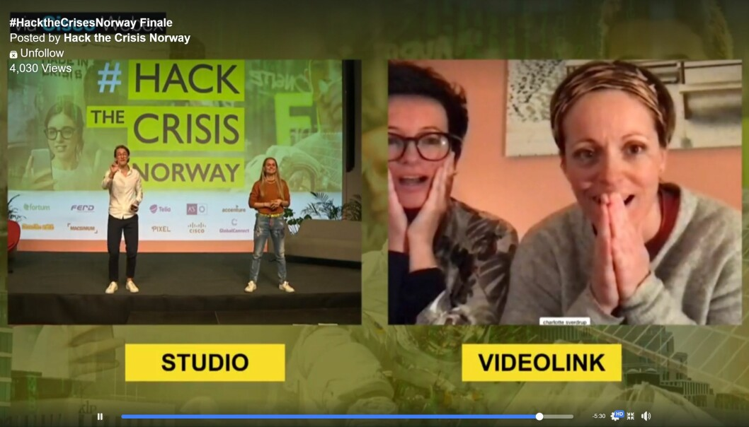 Becky Wightman og Charlotte Sverdrup vant norske Hack The Crisis, med gavekort-idéen Wham.
