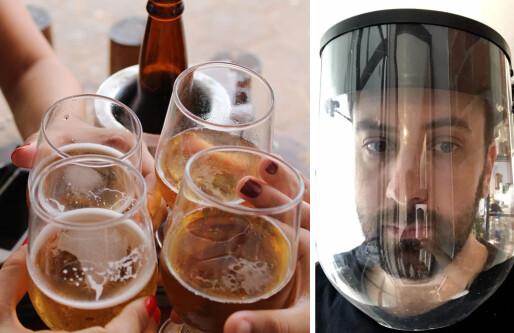 Da skjenkeforbudet kom, fikk Plaato en idé: Lager ansiktsskjermer til helsepersonell av tomme ølfat