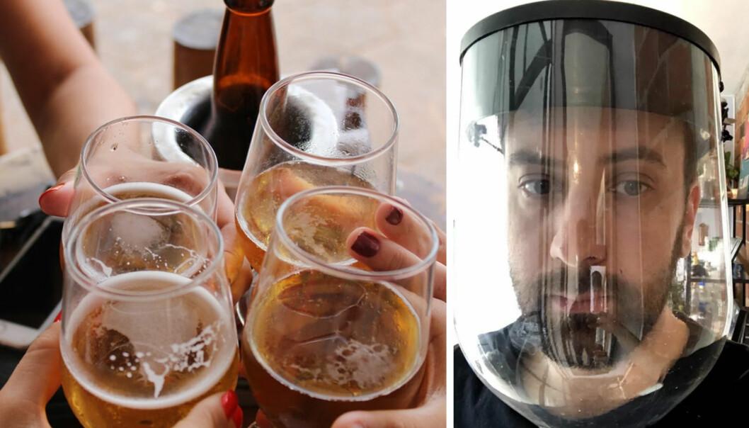 Michael Kononsky bruker resirkulerbare ølfat til å lage smittervern-masker til bruk av kritisk helsepersonell. Nå vil han ha flere med på produksjonen.