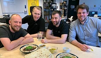 Plaato-teamet, fra venstre: Martin Blæsbjerg, Jørgen Hålien, Michael Kononsky og Pål Ingebrigtsen