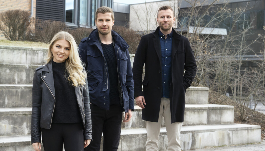 Designsjef Elin Parr Ohme, daglig leder Michael Lybek og styreleder Jan Johannessen i Tipio.