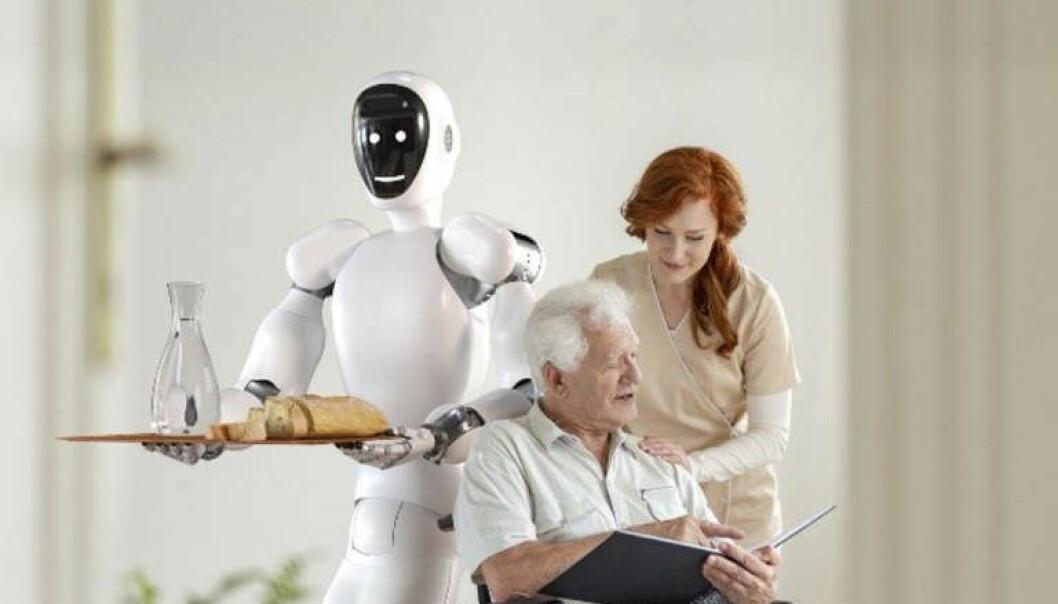 Eve-roboten skal hjelpe eldre og funksjonshemmede.