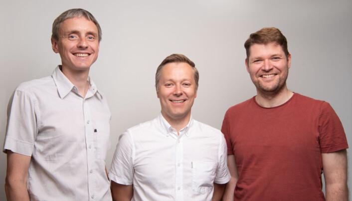 Gründerne Arne Søraas, Espen Riskedal og Karl Trygve Kalleberg har hentet 9 millioner for å utvikle biomarkører for aldersrelaterte sykdommer.