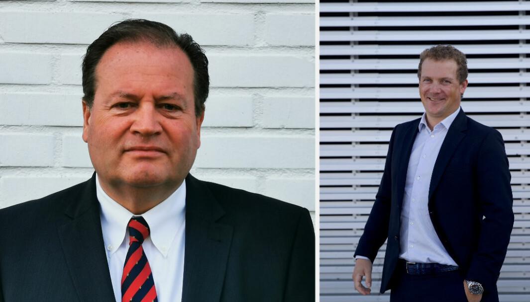 Michael Sundin (til venstre) overtar jobben til Børge Leknes (til venstre) i Hudya.