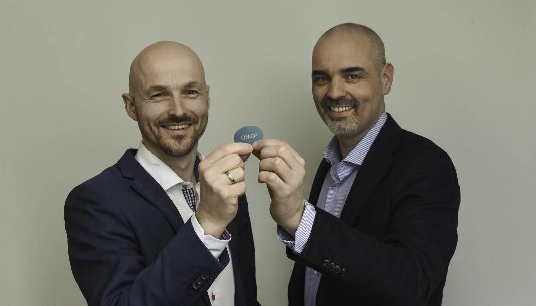Gründer og daglig leder Kjetil Meisal i ONiO sammen med medgründer og CMO Runar Finanger.