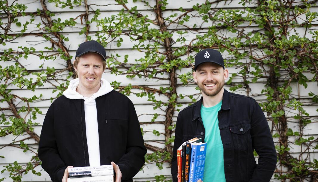 Fra venstre gründerne Lasse Brurok og Arne-Morten Willumsen i Bookis, henholdsvis og markedssjef og daglig leder.