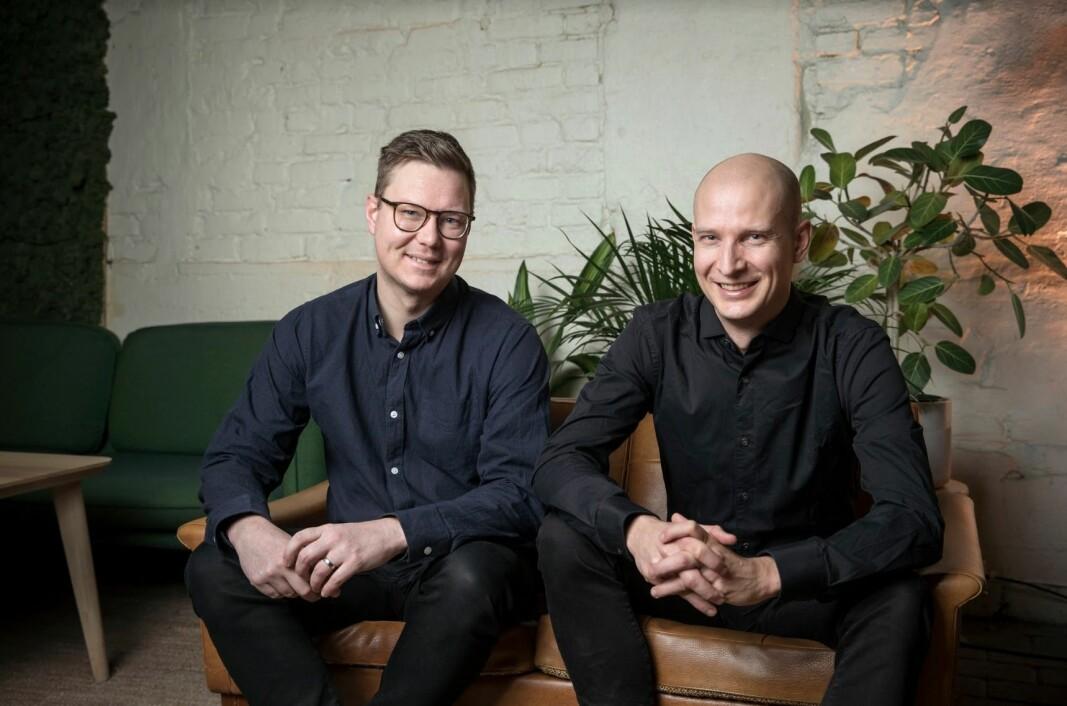 Tibber-gründerne Daniel Linden og Edgeir Vårdal Aksnes.
