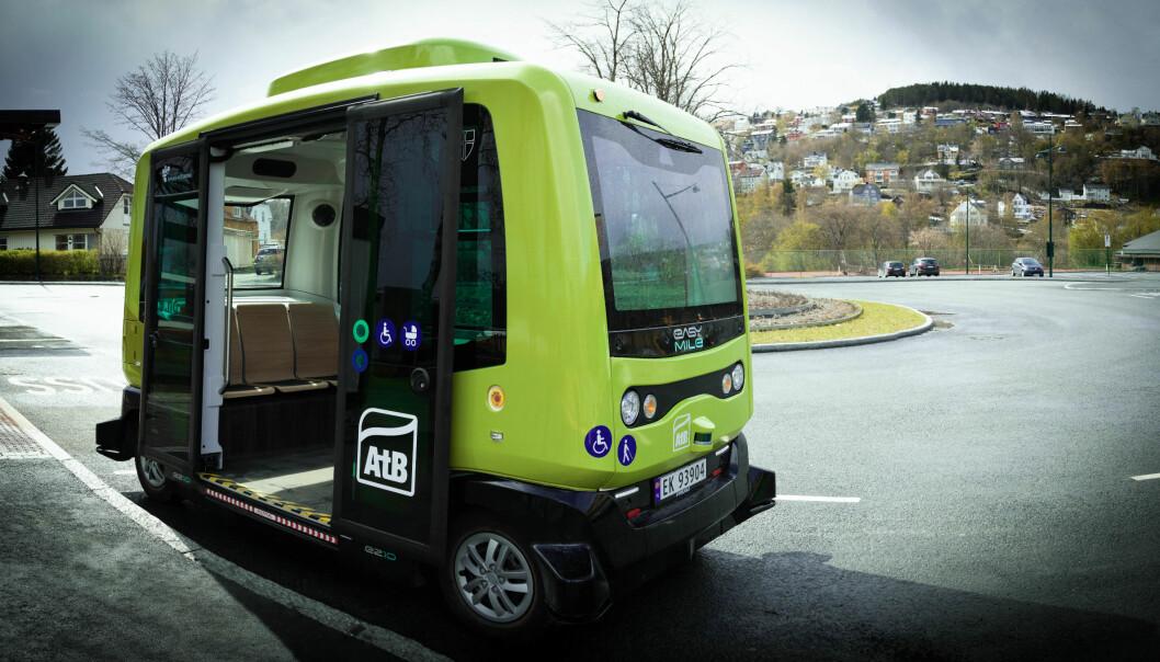 Denne selvkjørende bussen kan møte opp til ønsket sted, mer slik vi kjenner taxi enn buss.