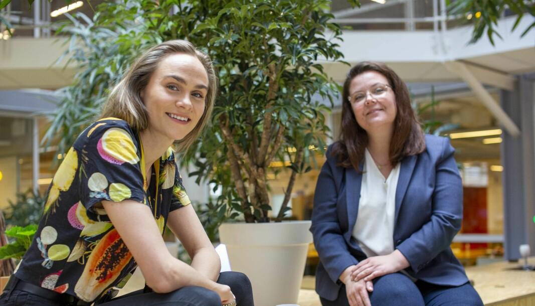 Lauga Oskarsdottir, inkubatorleder i StartupLab og Hanne Hollstedt, markedssjef i Schibsted Growth