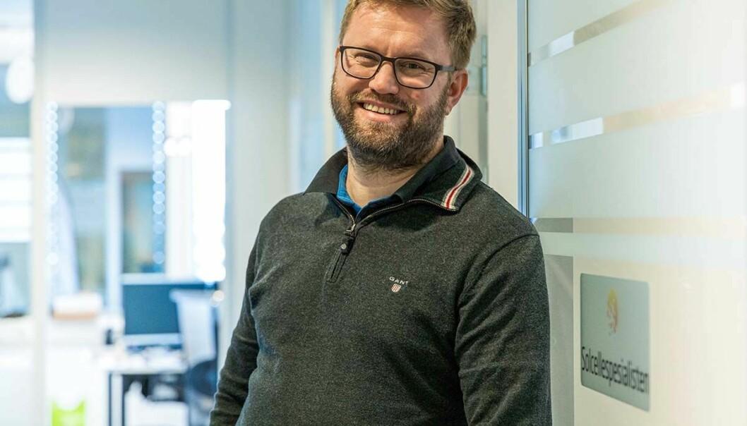 Carl Christian Strømberg begynte å satse på solceller i 2014, og hatt eventyrlig vekst siden.
