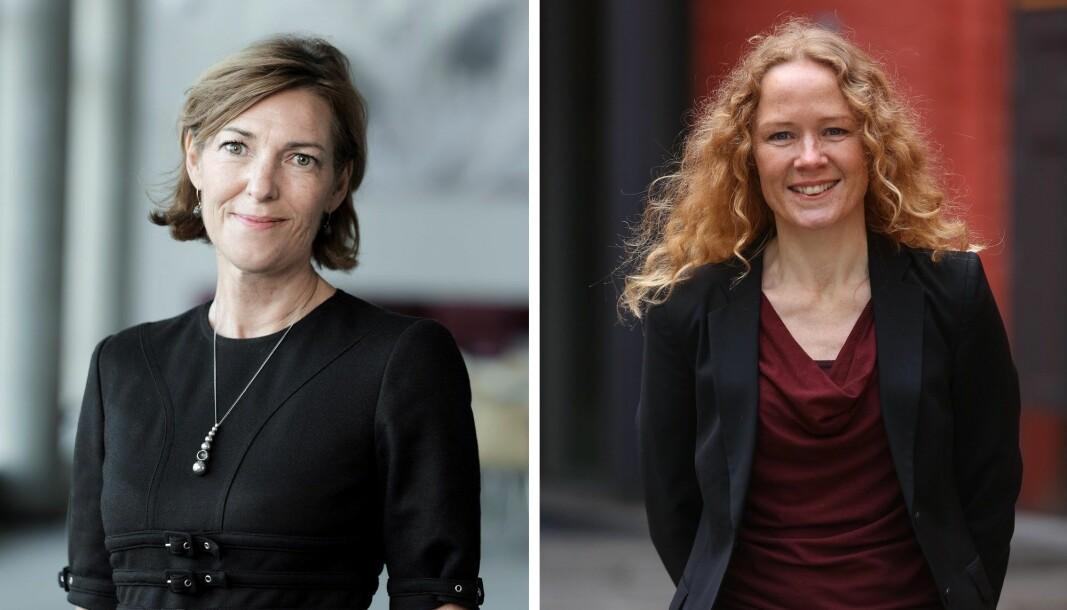 Ingelin Drøpping (venstre) er ny direktør for samfunns- og næringsutvikling i Innovasjon Norge. Helle Øverbye er ny direktør for mennesker og teknologi.