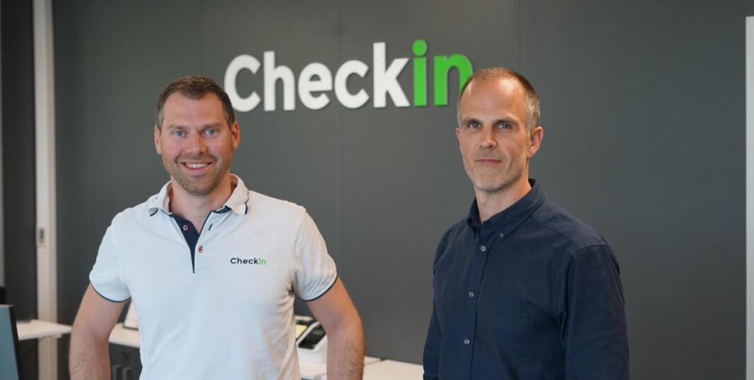Kristian Løyining (t.v.) og Kjell Ingvar Torvik, i Checkin.