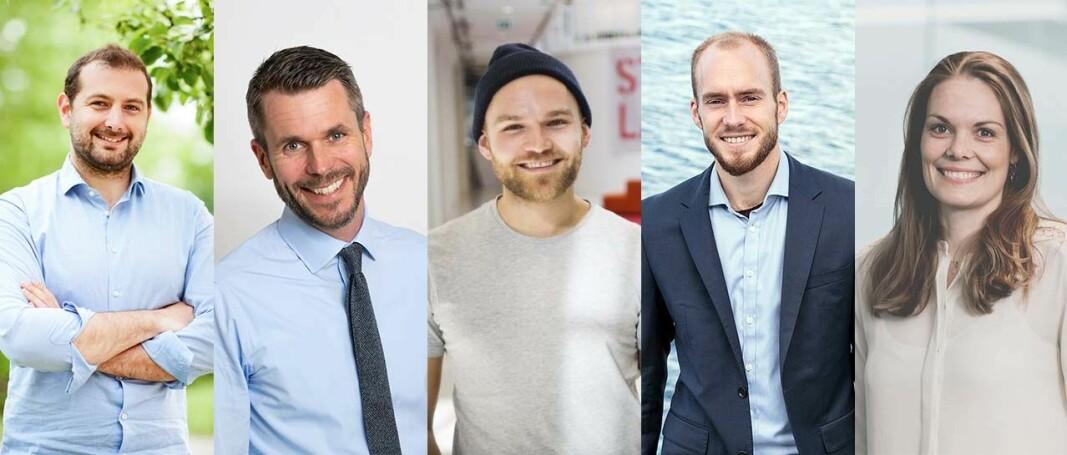 Andrea Di Pietrantonio, Henrik Lie-Nielsen, Kjetil Holmefjord, Sven Jørund Kolstø og Hilde Støle Pettersen er erfarne investorer i startups.