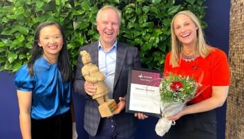 Morten Løvstad sammen med Jane Xia og Kristine Hofer Næss
