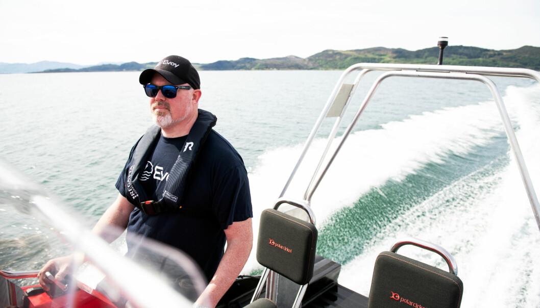 Gründer Leif Stavøstrand har fått med seg en fin slant fra Innovasjon Norge på reisen