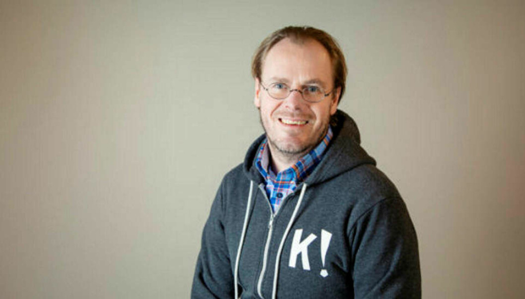 Martin Kværnstuen selger seg ned i Kahoot.