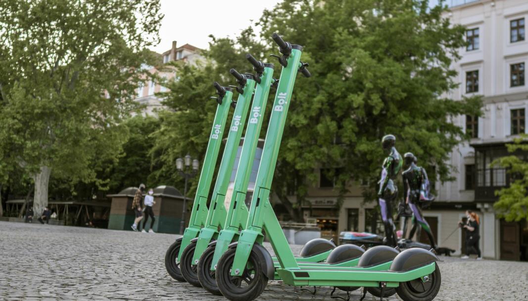 Fredag dukket grønne Bolt-sparkesykler opp i Oslo